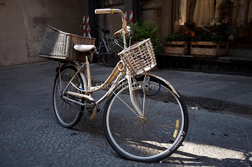 cityscapes #178, bike baskets   by stickelsimages