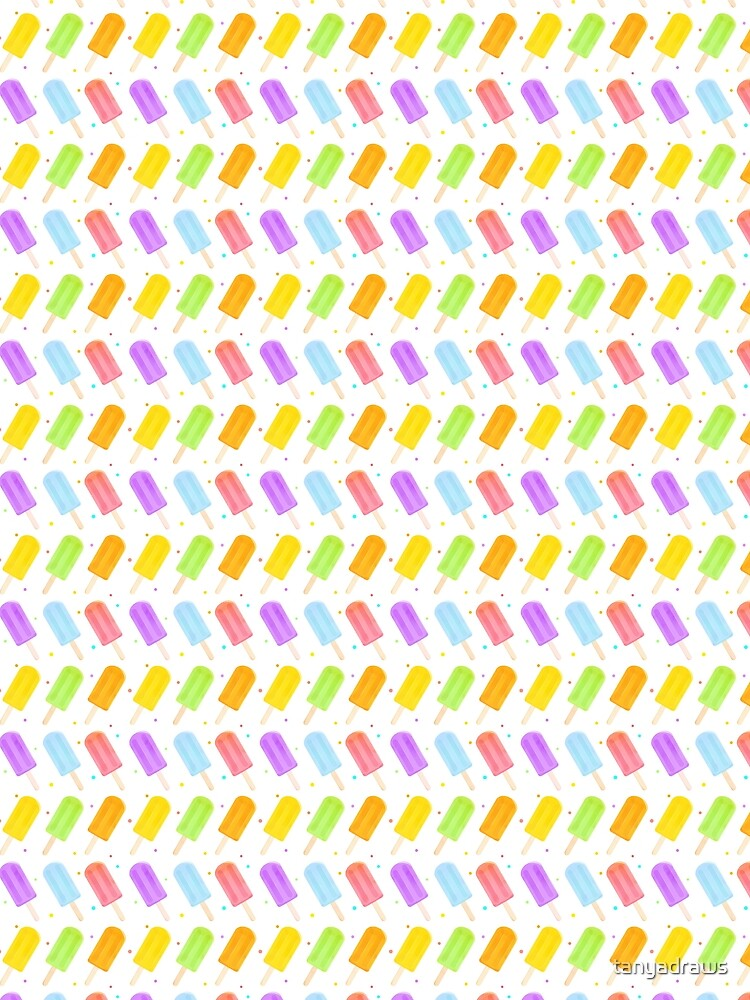 Tasty Summer Watercolour Popsicle Pattern by tanyadraws