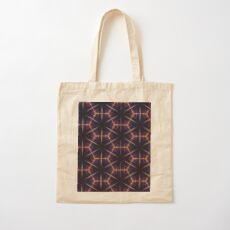 Skyline Kaleidoscope Hexagon Pattern Cotton Tote Bag