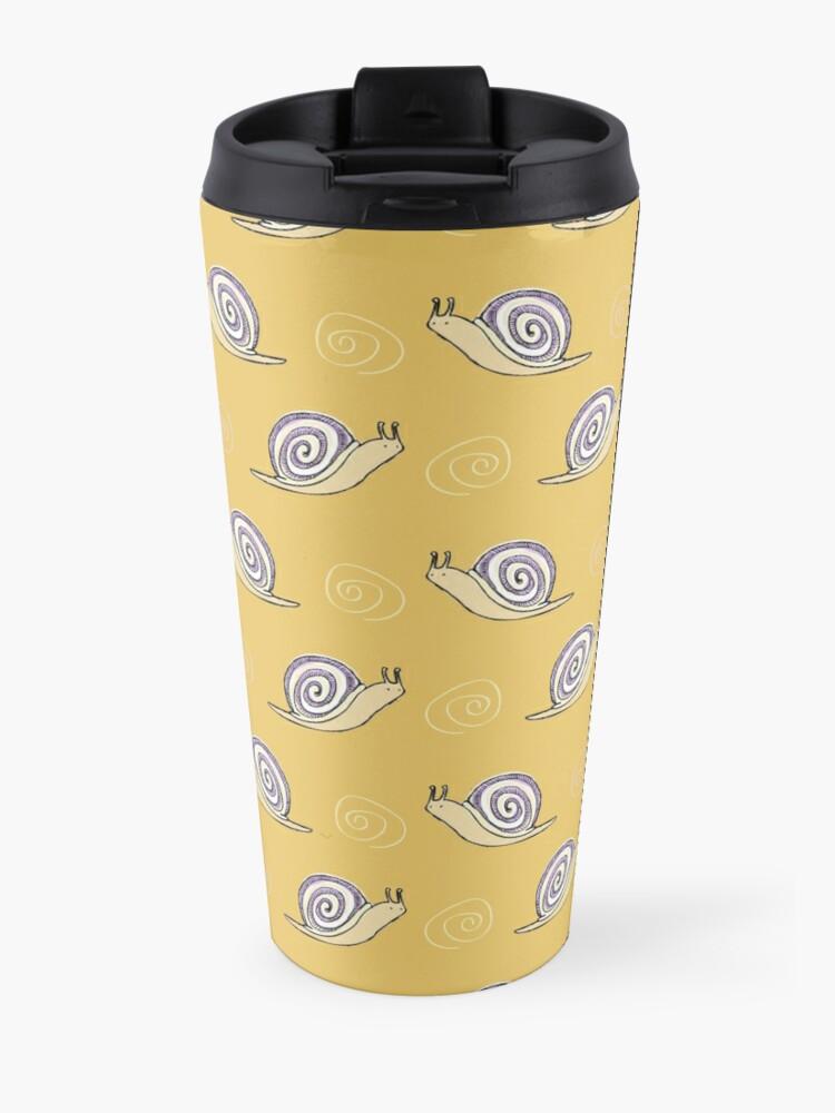 Alternate view of Illustrated Snail and Swirls Pattern Travel Mug