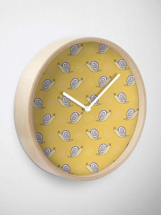 Alternate view of Illustrated Snail and Swirls Pattern Clock