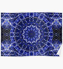 Electric Blue Mandala Poster