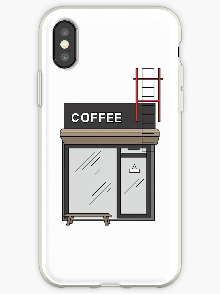 The Coffee Shop: Centred Phone Case by c0rinna