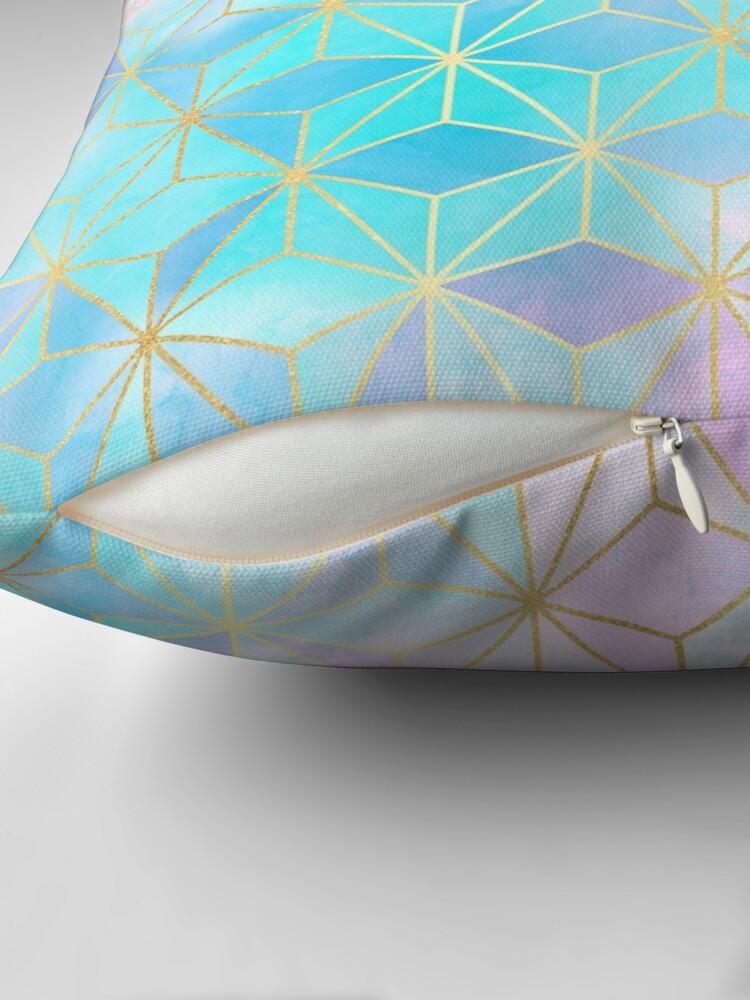 Alternate view of Iridescent & Gold Geometric Pattern Floor Pillow
