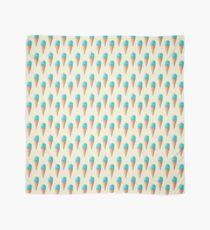 Blue Ice Cream Pattern - Cream Scarf