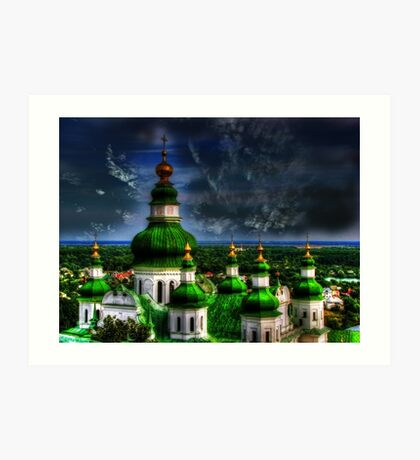 Domes of Trinity Cathedral Art Print