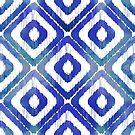 Navy Blue Ikat Pattern by tanyadraws
