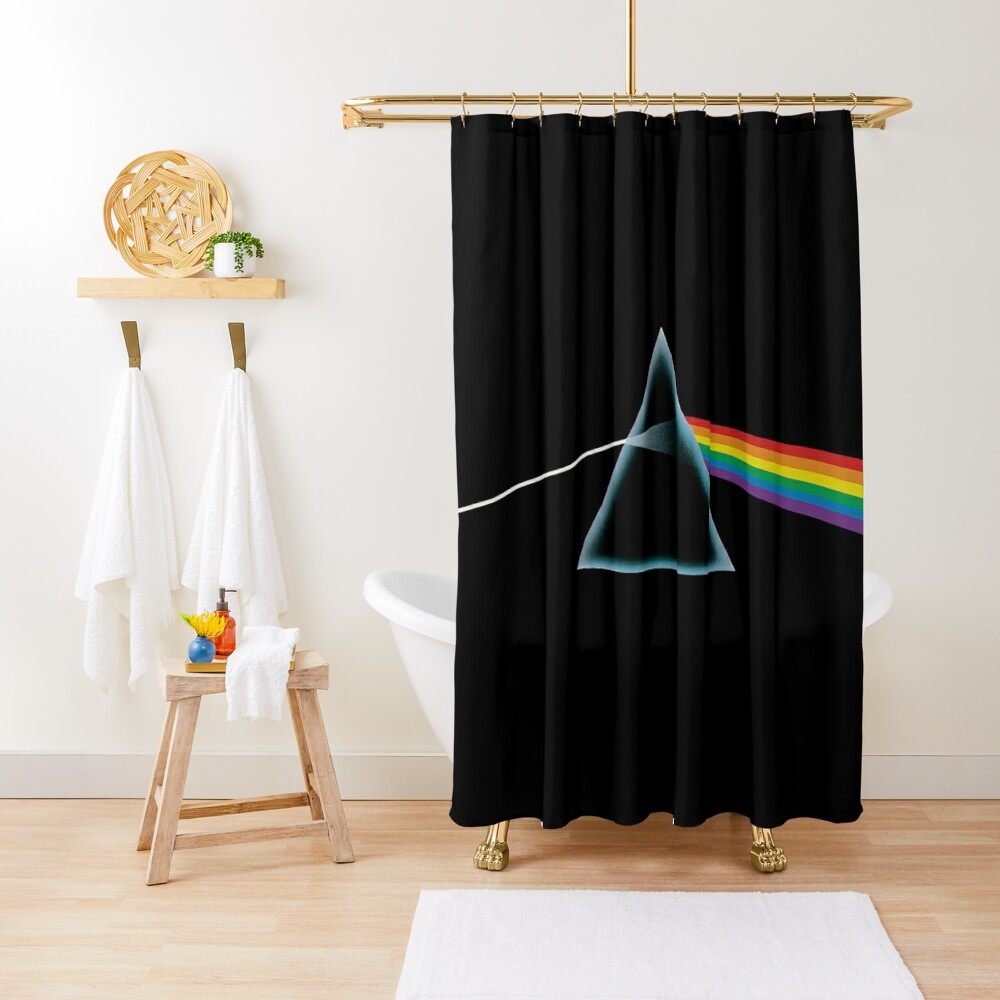 Pink Floyd Dark Side Of The Moon Tribute Shower Curtain