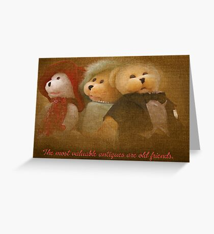 Teddys' Night Out (card) Greeting Card