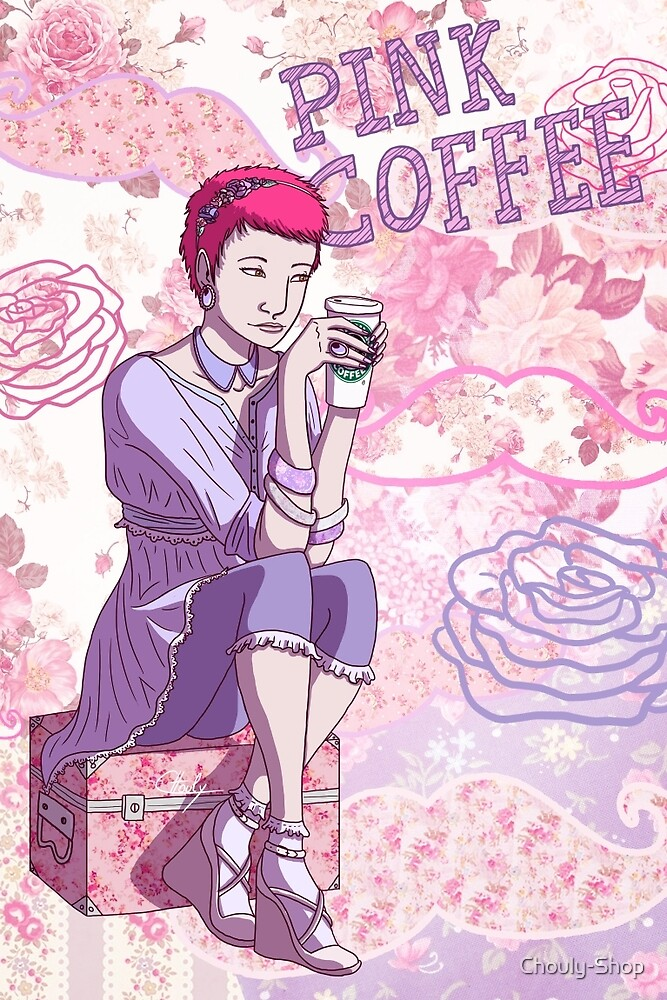 Pink Coffee by Chouly-Shop