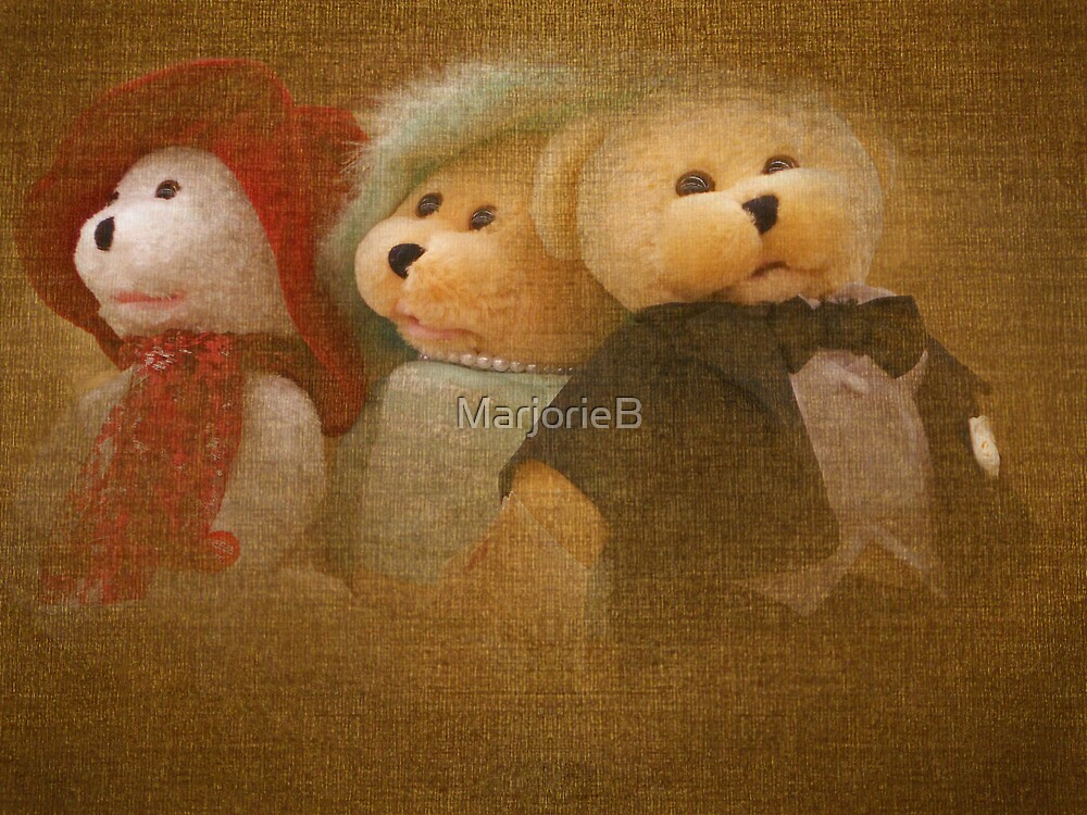 Teddys' Night Out by MarjorieB