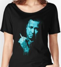 Bill Hicks (blue) Women's Relaxed Fit T-Shirt