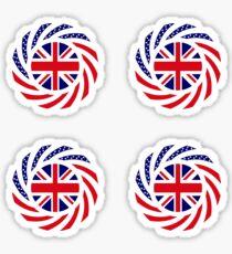 British American Multinational Patriot Flag Series Sticker