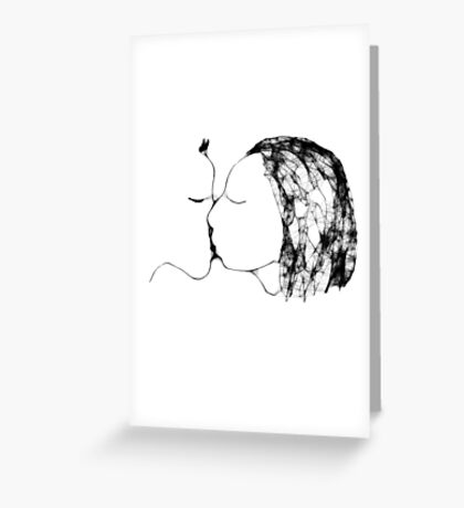 the kiss 3 -(120111)- the scribber computer program Greeting Card