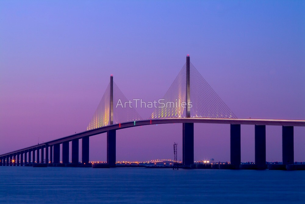 """Sunshine Skyway Bridge"" - bridge over Tampa Bay by ArtThatSmiles"