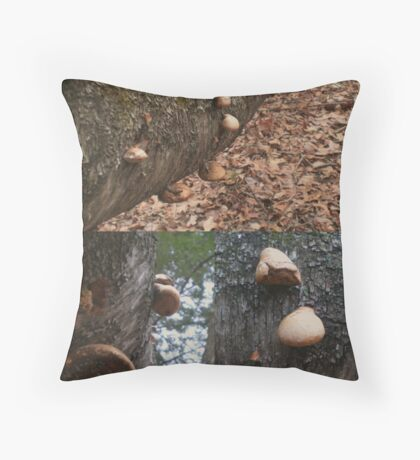 Tree Fungus Throw Pillow