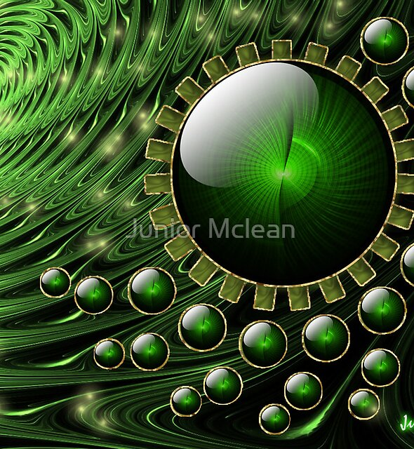 Spiral Vortex: Part of Dream Scape Series. by Junior Mclean