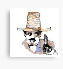 Scribbler Cowboy Canvas Print