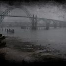 Yaquina Bay Bridge in the Fog by aussiedi