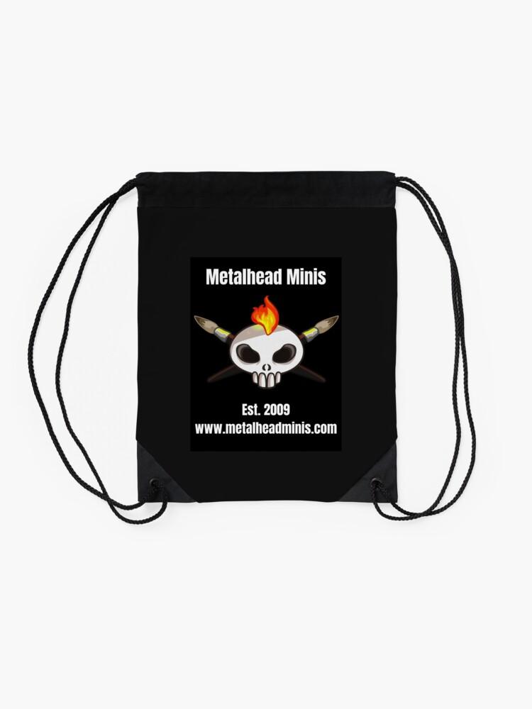 Alternate view of Metalhead Minis Logo - Large - 10 Year Anniversary Drawstring Bag
