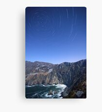 Star trails over Sliabh Liag Canvas Print