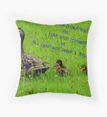 Feature Banner - All Creatures Great & Small Group Throw Pillow