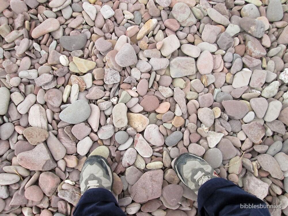 sandstone beach pebbles by bibblesbunnies