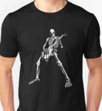 Skeleton Bones Dead Electric Guitar Player Unisex T-Shirt