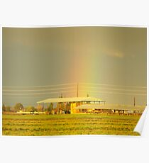 Rainbow Over Troubled Skies Poster