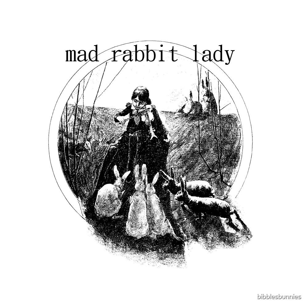 mad rabbit lady  by bibblesbunnies