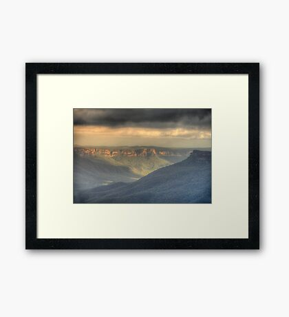 Silence - Jamison Valley, Blue Mountains World Heritage Area - The HDR  Experience Framed Print