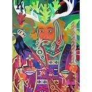 The King of Oaks giclee with border by Denise Weaver Ross