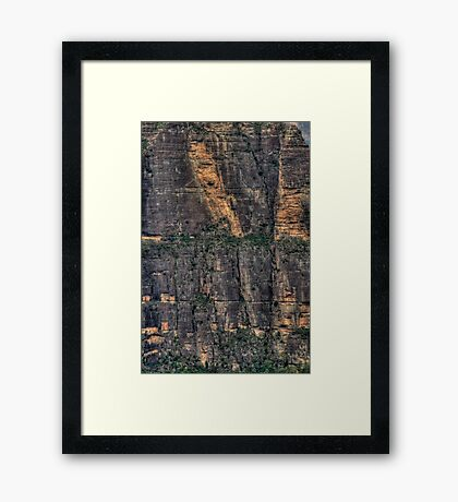 It's A long Way Down - Blue Mountains World Heritage Area - The HDR Experience Framed Print