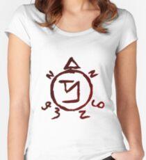 Supernatural Angel Banishing Symbol Women's Fitted Scoop T-Shirt