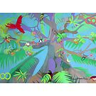 Eight Branches Over Ocho Rios giclee with borders by Denise Weaver Ross