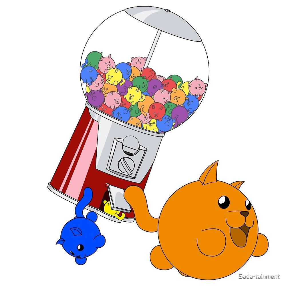 Cat Gumball Machine - Rainbow by Sada-tainment