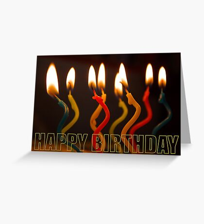 curly candles b-day card Greeting Card