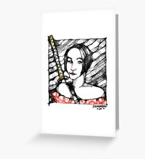 Kunoichi Scribbler - A Self portrait Greeting Card