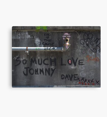 So much love Johnny... Canvas Print