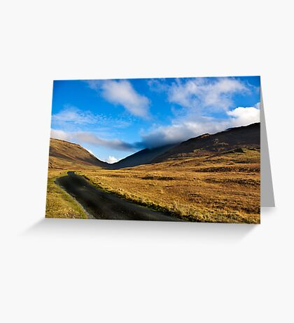 Looking Towards Wrynose Pass Greeting Card