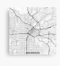 Los Angeles Karte Grau Metallbild