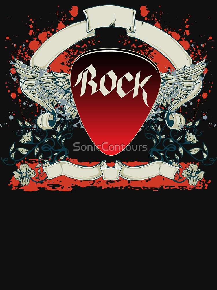 Rock and Roll Guitar Pick Wings by SonicContours