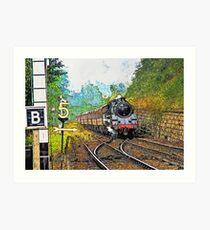 Steam Train at Goathland Art Print