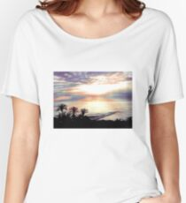 Tropical Sunset Women's Relaxed Fit T-Shirt