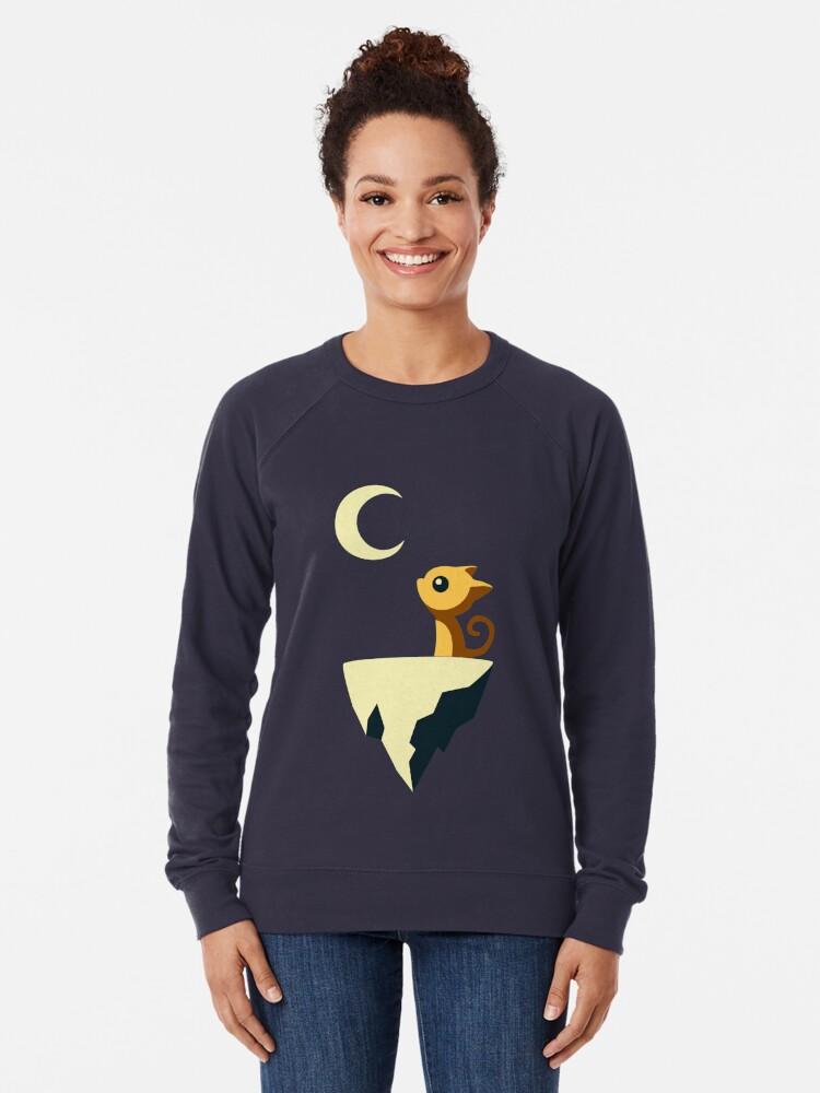 Alternative Ansicht von Mond Katze Leichter Pullover