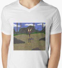 Humanoide Klatschfalle T-Shirt mit V-Ausschnitt