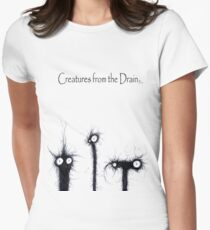 creatures from the drain 4 Women's Fitted T-Shirt