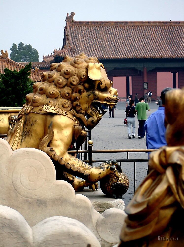 Lion Statue, Forbidden Palace, Beijing, China by littleinca