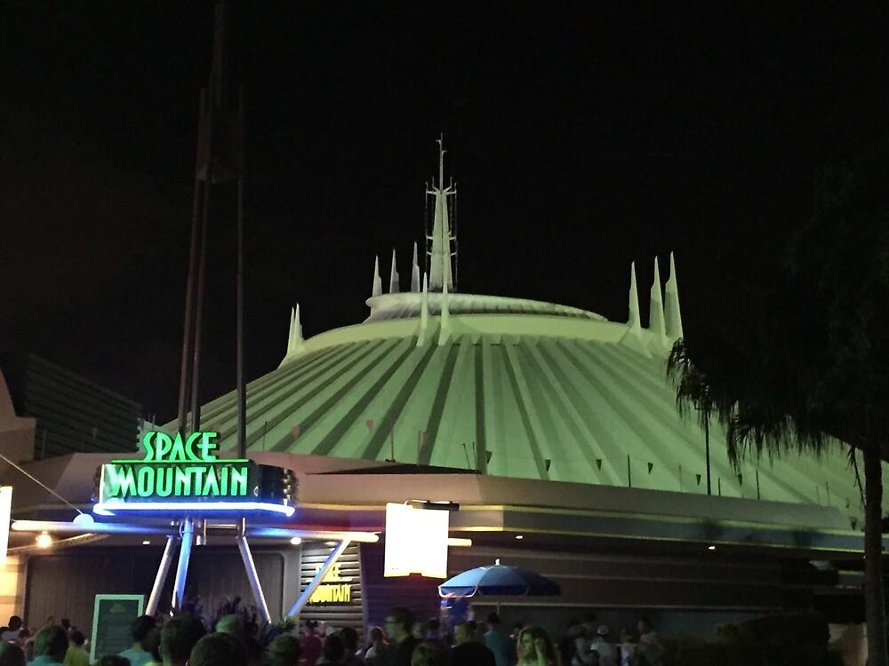 Space Mountain at night! by WDWLuke