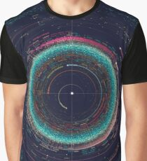 An Asteroid Map of the Solar System Graphic T-Shirt